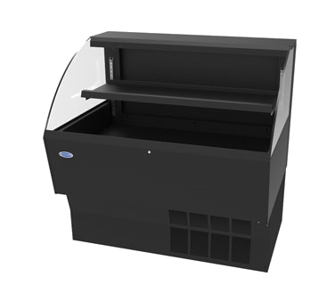 "Federal Industries Low Profile Self-Serve Refrigerated Merchandiser, 34-3/4""W x 34""D x 46""H, Black Deck & Black Interior"