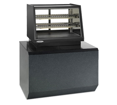 "Federal Industries Counter Top Refrigerated Rear Mount Merchandiser, 48""W x 30""D x 28""H, Black Display Deck, Black Trim"