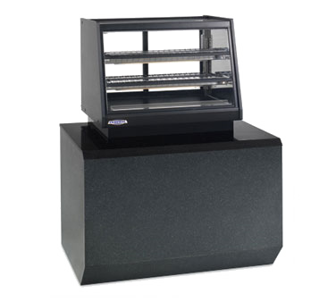 "superior-equipment-supply - Federal Industries - Federal Industries Counter Top Self-Serve Refrigerated Rear Mount Merchandiser, 48""W x 30""D x 28""H, Black Display Deck, Black Trim"