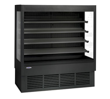 "Federal Industries High Profile Self-Serve Refrigerated Merchandiser, 71"" W x 34-1/4"" D x 78"" H,  Black Interior & Exterior"