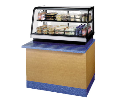 "superior-equipment-supply - Federal Industries - Federal Industries Counter Top Refrigerated Self-Serve Rear Mount Merchandiser, 36""W x 30""D x 28""H, Black Painted Metal & Stainless Construction with Black Trim"