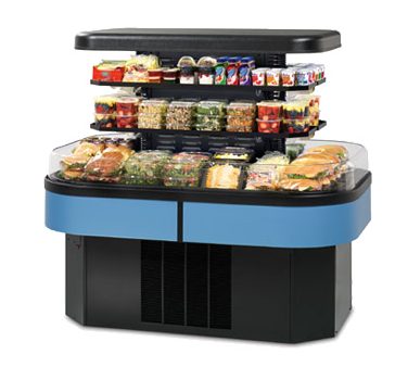 "Federal Industries Specialty Display Island Self-Serve Refrigerated Merchandiser, 60""W x 40""D x 55""H, Black Metal Base"