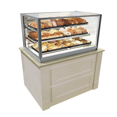 "Federal Industries Non-Refrigerated Display Case, Counter Top Model, 60"" W x 30"" D x 34"" H, Gray Textured Exterior"