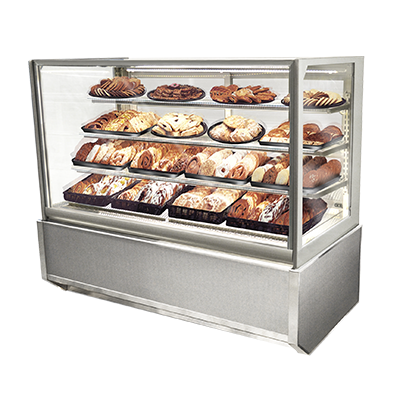 "superior-equipment-supply - Federal Industries - Federal Industries Non-Refrigerated Display Cases, (Floor Standing Model), 61-1/2"" W x 30-3/4"" D x 52"" H, Choice Of Laminates"