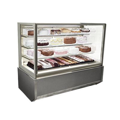 "Federal Industries Refrigerated Display Case, Floor Standing Model, 61-1/2"" W x 30-3/4"" D x 44"" H, Choice Of Laminates"