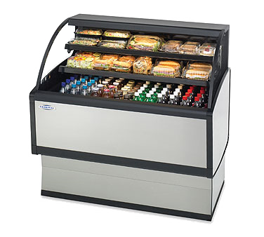 "Federal Industries Specialty Display Low Profile Self-Serve Refrigerated Merchandiser, 72""W x 34""D x 46""H, Steel Base construction"