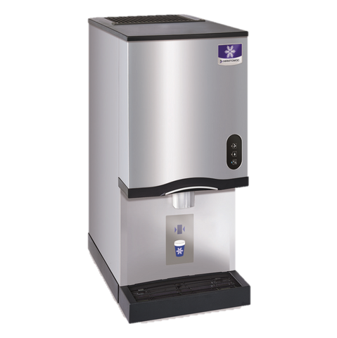 "Manitowoc Ice Maker & Water Dispenser, 16-1/2"" W x 24"" D x 35"" H, Counter Top, Nugget Style, 315 LB/24 Hours"