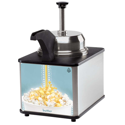Server Products BSW-SS Butter Server With Pump & Spout Warmer, 3 Qt Stainless Steel Jar