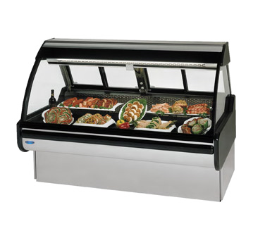 "Federal Industries Curved Glass Refrigerated Maxi Deli Case, 96""W x 42""D x 54""H, Stainless Steel Interior & Exterior"
