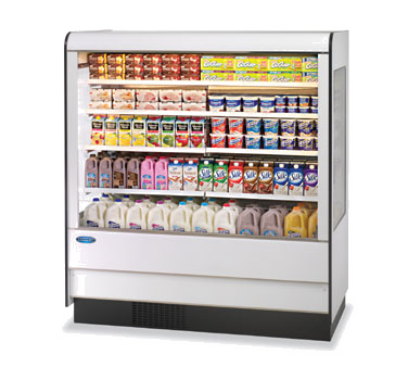 "Federal Industries Specialty Display High Profile Self-Serve Refrigerated Dairy Merchandiser, 91""W x 34""D x 78""H,"