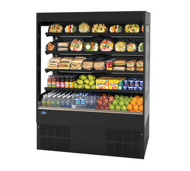 "Federal Industries Refrigerated Self-Serve Slim-Line High Profile Specialty Merchandiser, 71-1/4""W x 24""D x 78""H, Stainless Steel Display Deck"
