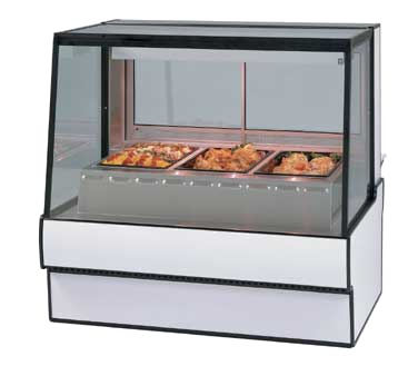 "Federal Industries High Volume Hot Deli Case, 50""W x 35""D x 48""H, Stainless Steel Deck"
