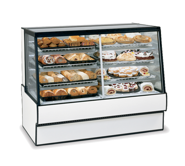 "Federal Industries  High Volume Vertical Dual Zone Bakery Case Refrigerated, 50""W x 35""D x 42""H, Choice Of Laminate With Black Trim"