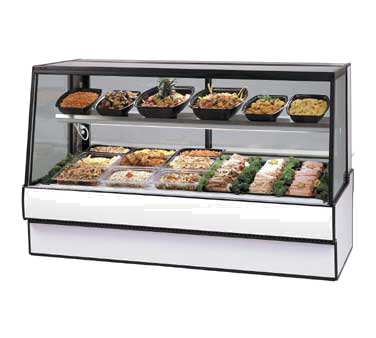"Federal Industries High Volume Refrigerated Deli Case, 59""W x 35""D x 48""H, Choice Of Laminate With Black Trim"