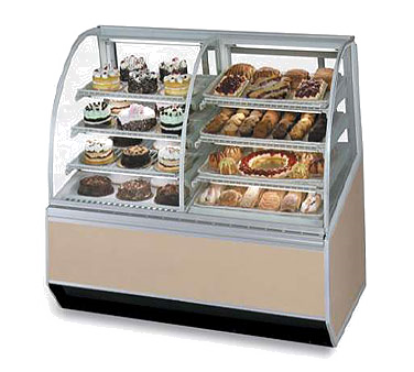 "Federal Industries Series '90 Dual Bakery Case Refrigerated Left Non-Refrigerated Right, 48""W x 38""D x 48""H, Choice of Laminate & Trim"