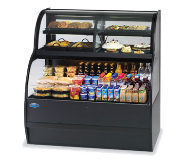 "superior-equipment-supply - Federal Industries - Federal Industries Specialty Display Convertible Merchandiser With Refrigerated Self-Serve Bottom & Convertible Top, 36""W x 34""D x 52""H, Black Exterior"