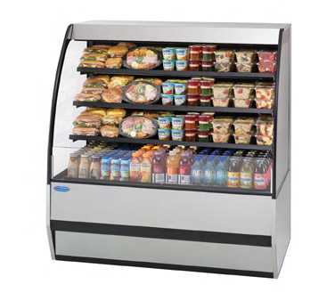 "superior-equipment-supply - Federal Industries - Federal Industries Specialty Display Prepared Foods Merchandiser, 77""W x 34""D x 52""H, Choice Of Laminate, Black Trim"
