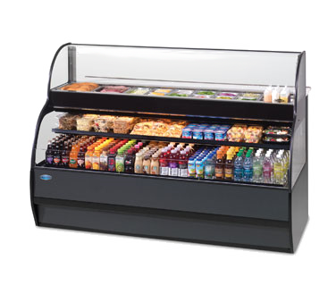 "superior-equipment-supply - Federal Industries - Federal Industries Specialty Display Sandwich Or Salad Prep Merchandiser With Refrigerated Self-Serve Bottom, 77""W x 34""D x 52""H, Black Exterior"