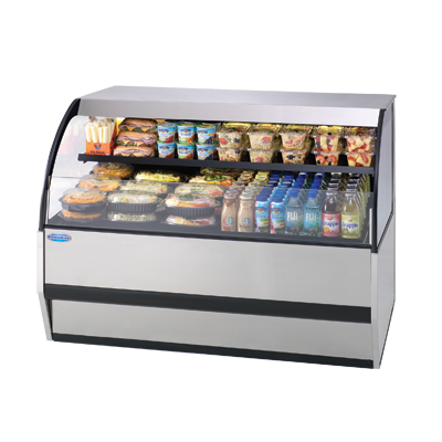 "superior-equipment-supply - Federal Industries - Federal Industries Specialty Display Versatile Service Top Over Refrigerated Self-Serve Counter Case, 77""W x 34""D x 33""H, Choice Of Laminate"