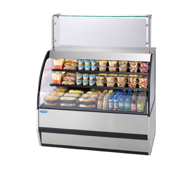 "superior-equipment-supply - Federal Industries - Federal Industries Specialty Display Versatile Service Top Over Refrigerated Self-Serve Deli Merchandiser, 77""W x 34""D x 42""H, Choice Of Laminate"