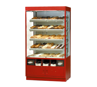 "superior-equipment-supply - Federal Industries - Federal Industries Specialty Display Non-Refrigerated Self-Serve Full Pan Bakery Case, 42""W x 30""D x 76""H, White Or Black Finish"