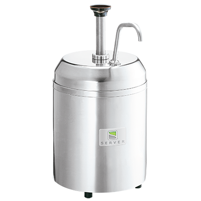 Server Products, CSM Chilled Server, Cream Dispenser, Stainless Steel Pump, 3 Qt. Capacity