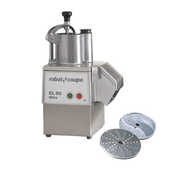 Robot Coup, Commercial Food Processor, Includes: Vegetable Prep Attachment With Kidney Shaped & Cylindrical Hopper, Stainless Steel Motor Base
