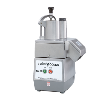 Robot Coupe, Commercial Food Processor, Includes: Vegetable Prep Attachment With Kidney Shaped Hopper, Metal Base