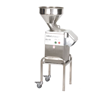 Robot Coupe Bulk E-Series Commercial Food Processor, Includes Stainless Steel Bulk Feed Hopper, Stainless Steel Base & Stand