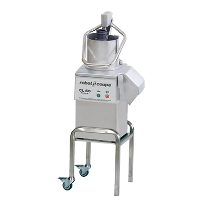 Robot Coupe Commercial Food Processor, Stainless Steel Mobile Stand, 2-1/2 HP