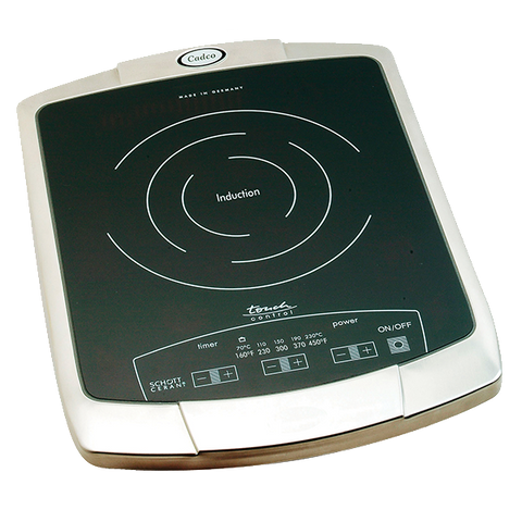 superior-equipment-supply - Cadco Ltd - Cadco Induction Hot Plate, Countertop, Electric, Schott Ceran® Glass-Ceramic Cooking Surface, Brushed Stainless Steel Housing