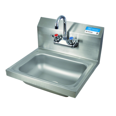 "superior-equipment-supply - BK Resources - BK Resources Wall Mount 14"" Wide Hand Sink With 4"" Splash Mount Faucet"