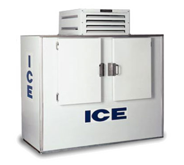 "superior-equipment-supply - Fogel Inc - Fogel White Exterior Two Solid Hinged Door Bagged Ice Merchandiser 76"" Wide"