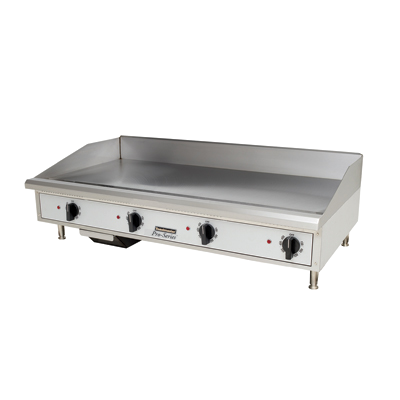"Toastmaster Griddle Electric 48""W x 27.81""D x 15.53""H Silver Steel Radiants Nickel Plated Steel Legs Stainless Steel Front With Removable Drip Tray"