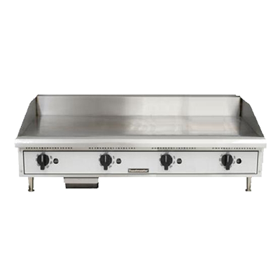 "Toastmaster Griddle Natural Gas 48""W x 27.81""D x 15.53""H Silver Steel Radiants Nickel Plated Steel Legs Stainless Steel Front With Removable Drip Pan"