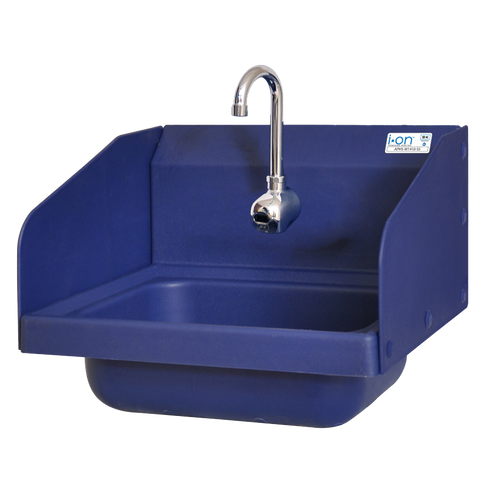 "superior-equipment-supply - BK Resources - BK Resources Antimicrobial 17"" Wide Hand Sink With (BKF-SEF-3G) Splash Mount Electronic Faucet"