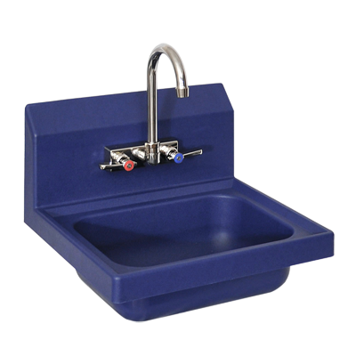 "superior-equipment-supply - BK Resources - BK Resources Antimicrobial 17"" Wide Hand Sink With EVO-4SM-4G T-304 Cast Stainless Steel Faucet"