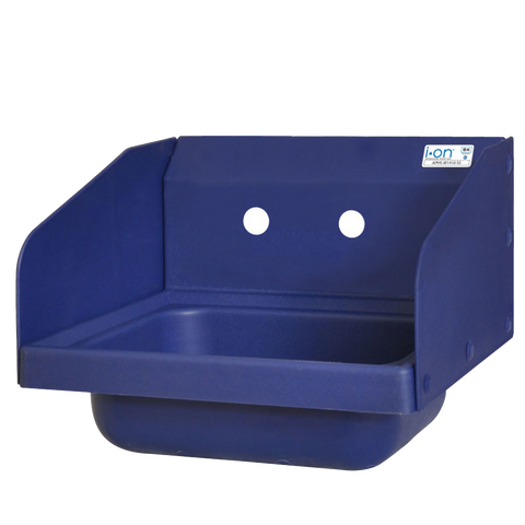 "superior-equipment-supply - BK Resources - BK Resources Antimicrobial 17"" Wide Hand Sink With Two Side Splashes & Two Faucet Holes"