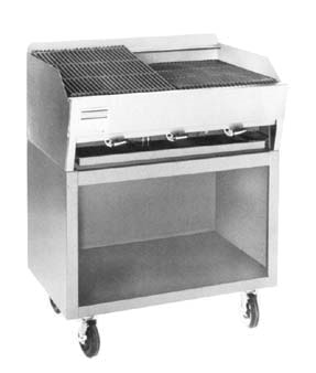 "Rankin Delux Gas Stainless Steel Floor Model Gas Charbroiler 21.5"" X 23"""