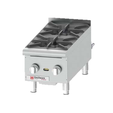 "Grindmaster-Cecilware Two Anti-Clog Burner Countertop Gas Pro Hotplate 12"" Wide"