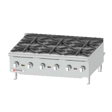 "Grindmaster-Cecilware Six Anti-Clog Burner Countertop Gas Pro Hotplate 36"" Wide"