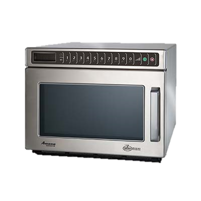 "Amana Stainless Steel LED Display 16.5"" Wide Microwave Oven"