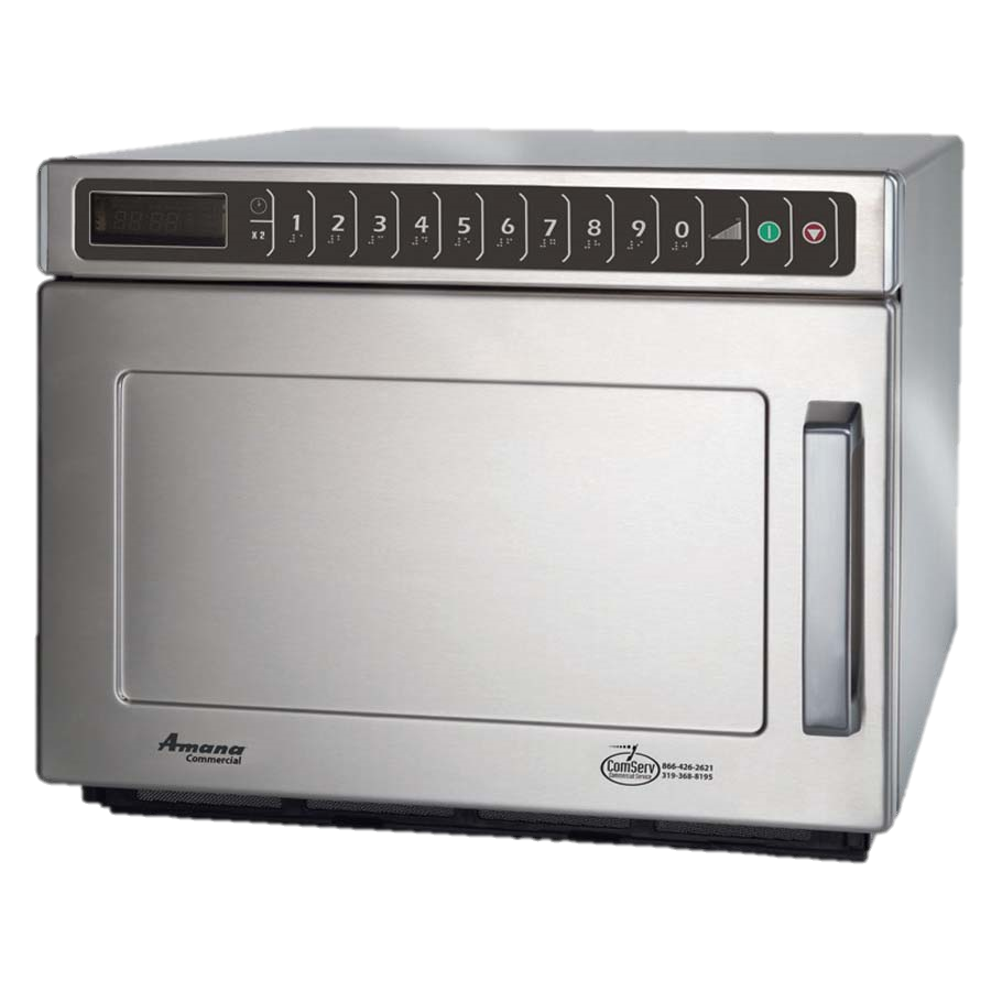 "superior-equipment-supply - Amana Commercial Products - Amana Stainless Steel Auto Voltage Sensor 16.5"" Wide Microwave Oven"