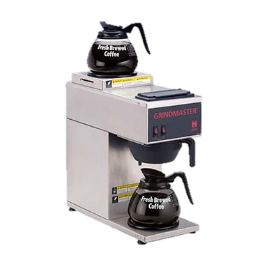 superior-equipment-supply - Grindmaster Cecilware - Grindmaster Cecilware Stainless Steel Electric Single Pourover Coffee Brewer With Bottom & Top Warmer 1.2 Gallon Tank Capacity