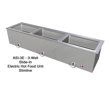 "Duke Slimline Food Well 68-1/4""W x 16.38""D x 12.75""H Stainless Steel Top Steel Exterior With Operator's Rail"