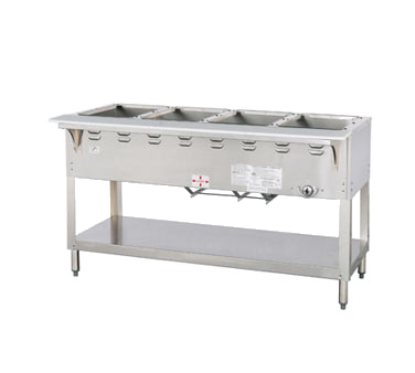 "Duke Aerohot Steamtable Wet Bath Holds (4) Pans 58.38""W x 22.44""D x 34""H Stainless Steel With Carving Board"