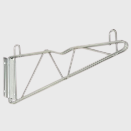 "Quantum FoodService Chrome 18"" Cantilever Arms Wall Mount"