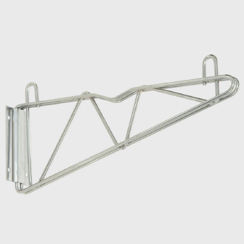 "Quantum FoodService Chrome 24"" Cantilever Arms Wall Mount"
