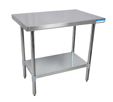 BK Resources Stainless Steel Work Table With Galvanized Undershelf - Large stainless steel work table