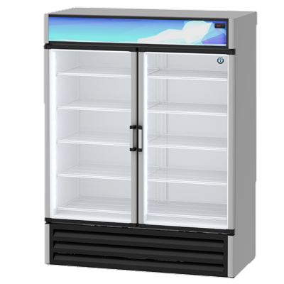 "superior-equipment-supply - Hoshizaki - Hoshizaki 60"" Wide Aluminum Exterior Two Section Reach In Refrigerated Merchaniser"
